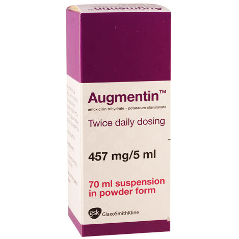 Augmentin  457mg/70ml suspen