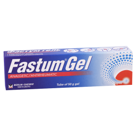 Fastum gel 2.5% 50g tub.