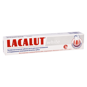 Lacalut dent.paste white 50ml