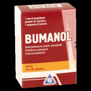 Bumanol 10mg pow#1fl+sol#1a