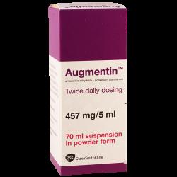 Augmentin  457mg/70ml suspen