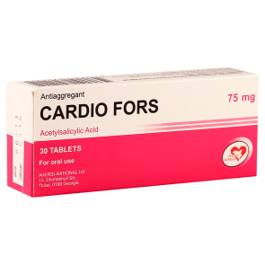 Cardio fors  75mg #30t