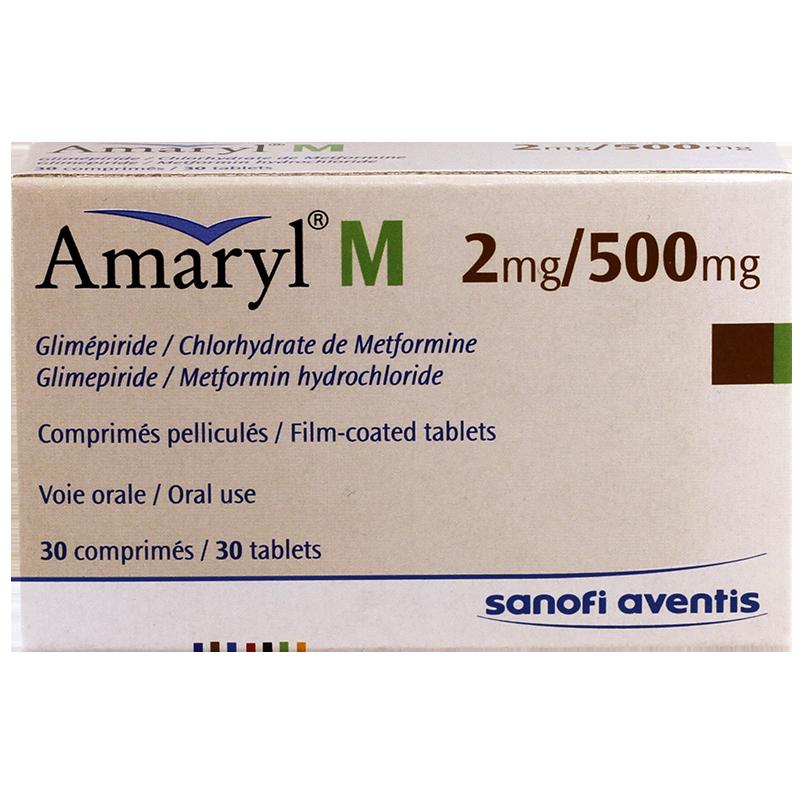 Amaryl M 2mg/500mg #30t