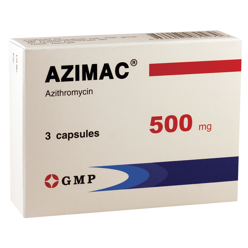 Azimac 500mg #3caps GMP
