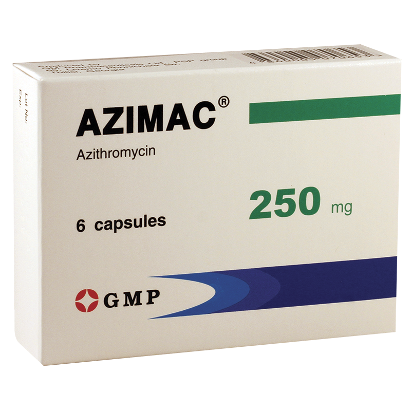 Azimac 250mg #6caps GMP