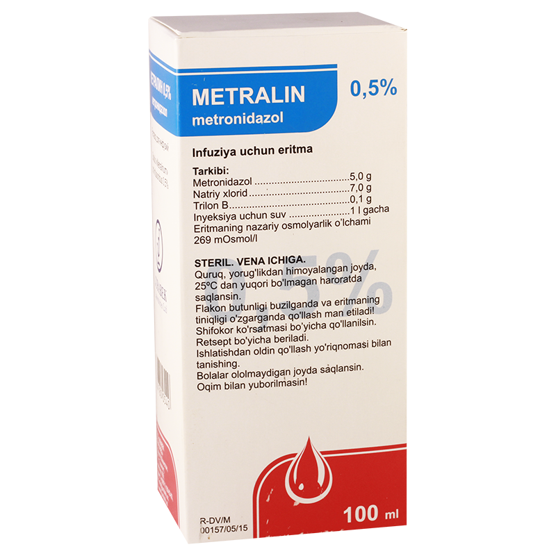 Metralin(Metronidaz)0.5%100ml