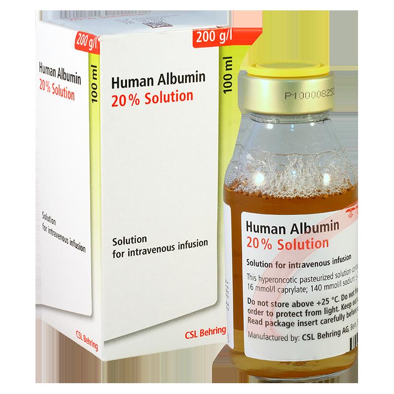 ალბუმინი (ალბურექსი)20% 100მლ